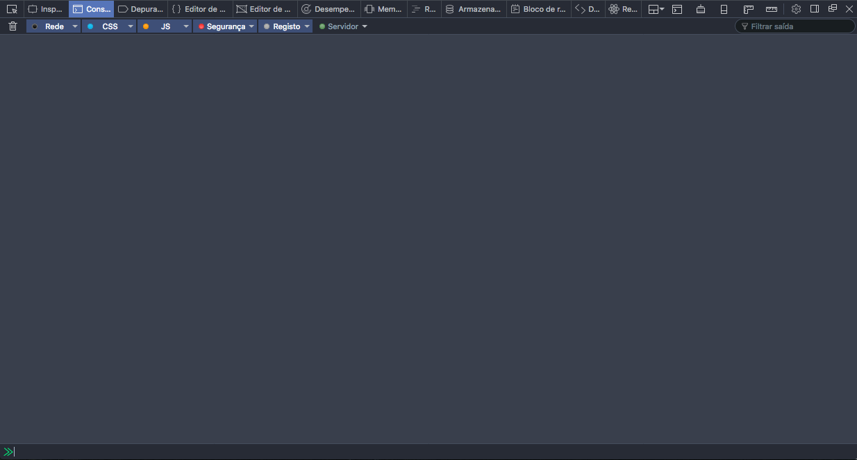 Screenshot of the Firefox developer tools in console mode.