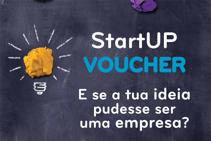"StartUp Voucher ad, it reads: ""What if your idea could turn into a company ?"""